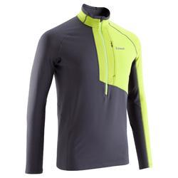 Sweater Alpinism met 1/2 rits voor heren anijsgroen en grijs