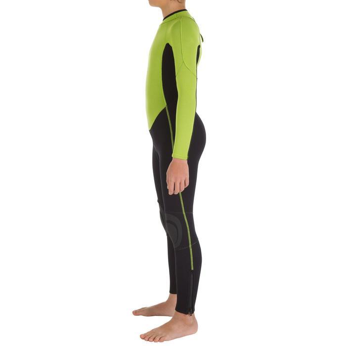 Combinaison SURF 100 Néoprène 2/2 mm Enfant Vert - 7090