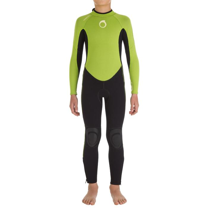 100 Children's 2/2 mm Neoprene Surfing Wetsuit - Green