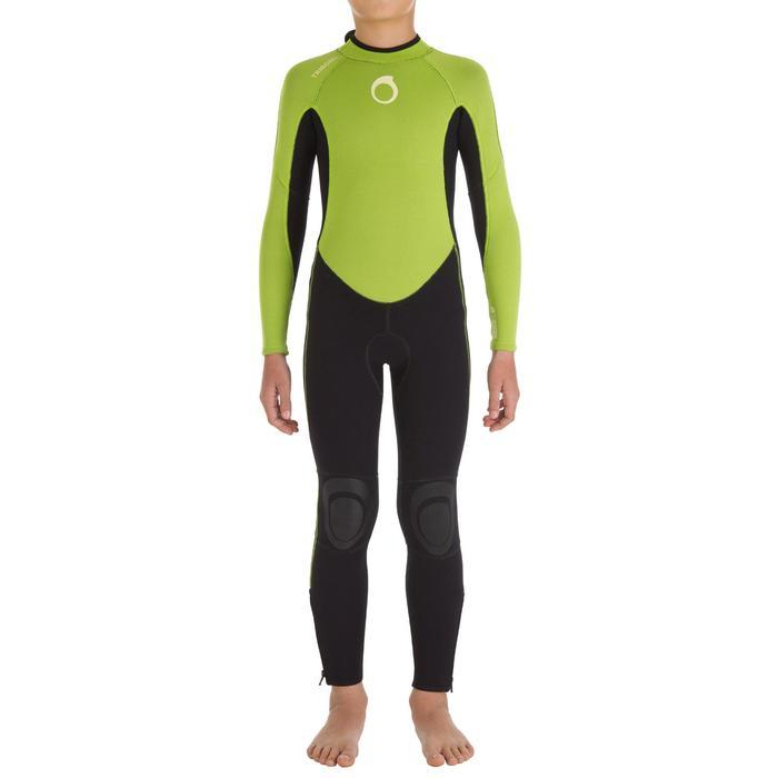 Combinaison SURF 100 Néoprène 2/2 mm Enfant Vert - 7091