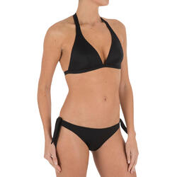 Bikinitop met haltermodel Betty zwart met uitneembare pads - 709190