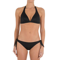 Bikinitop met haltermodel Betty zwart met uitneembare pads - 709194