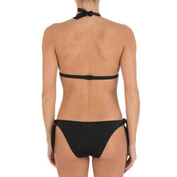 Bikinitop met haltermodel Betty zwart met uitneembare pads - 709196