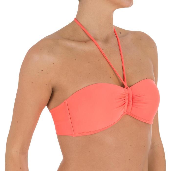 Haut de maillot de bain femme bandeau avec coques fixes LAETI - 709331