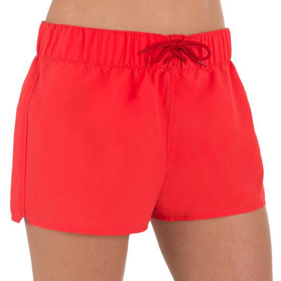 Boardshort dames Tana, effen met een elastische taille - 709361