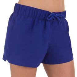 Boardshort dames Tana, effen met een elastische taille - 709382