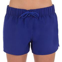 Boardshort dames Tana, effen met een elastische taille - 709386