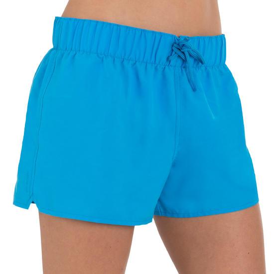 Boardshort dames Tana, effen met een elastische taille - 709393