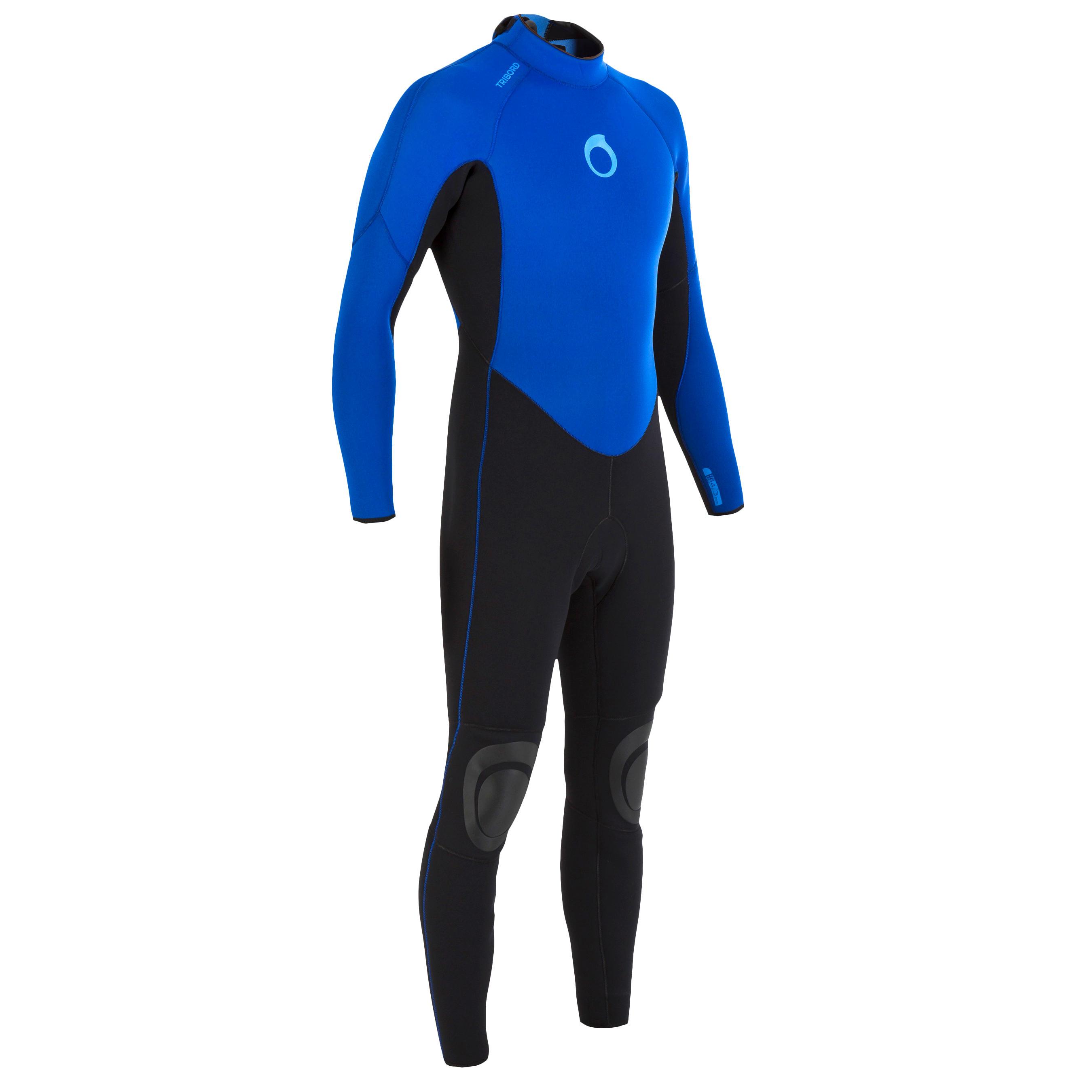 100 Men's 4/3 mm Neoprene Surfing Wetsuit