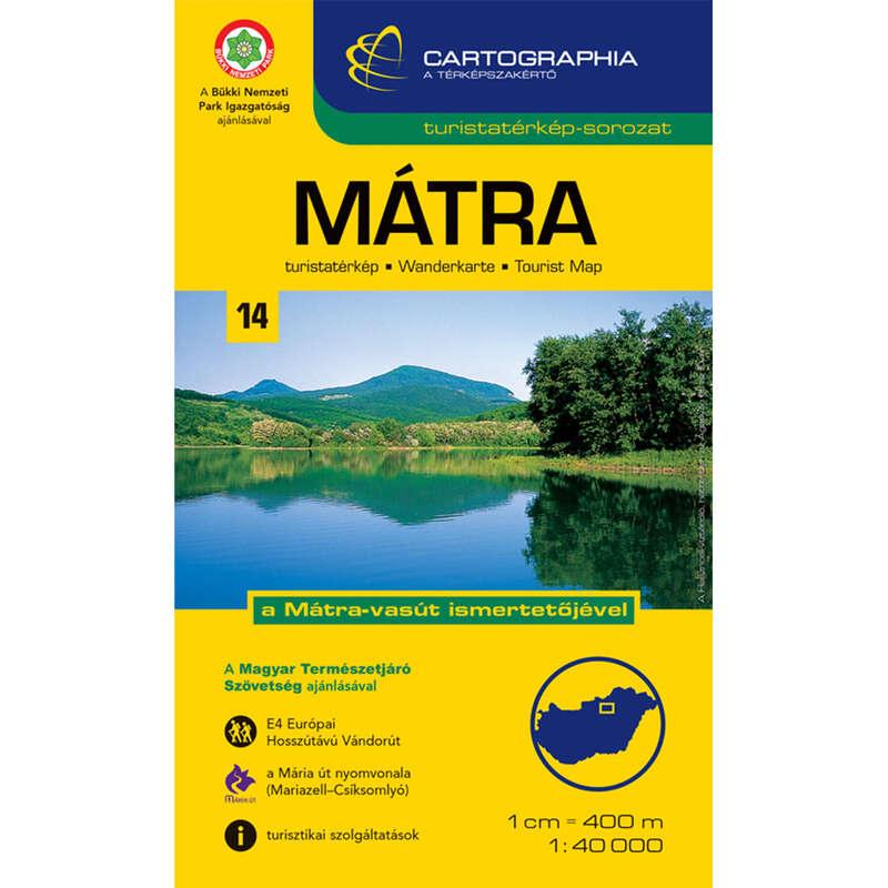 Térképek Túrázás - Mátra turistatérkép CARTOGRAPHIA - Túra felszerelés