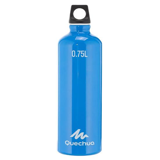 Drinkfles voor wandelingen 100 met schroefdop 0,75 liter aluminium - 709649