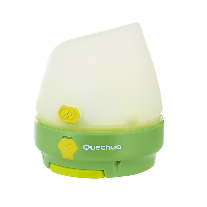 RECHARGEABLE/DYNAMO-OPERATED 50 LUMEN CAMPING/WALKING LAMP - GREEN