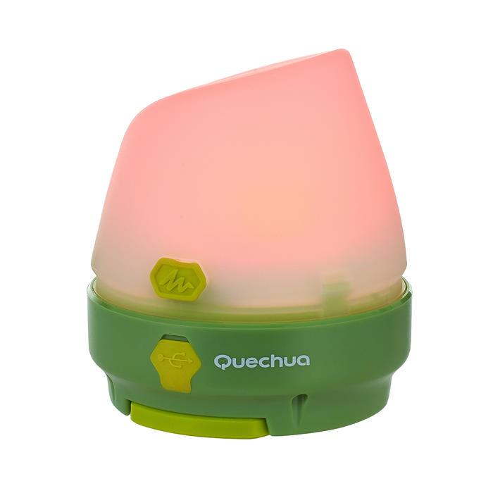 Kampeerlamp 50 lumen herlaadbaar met dynamo groen