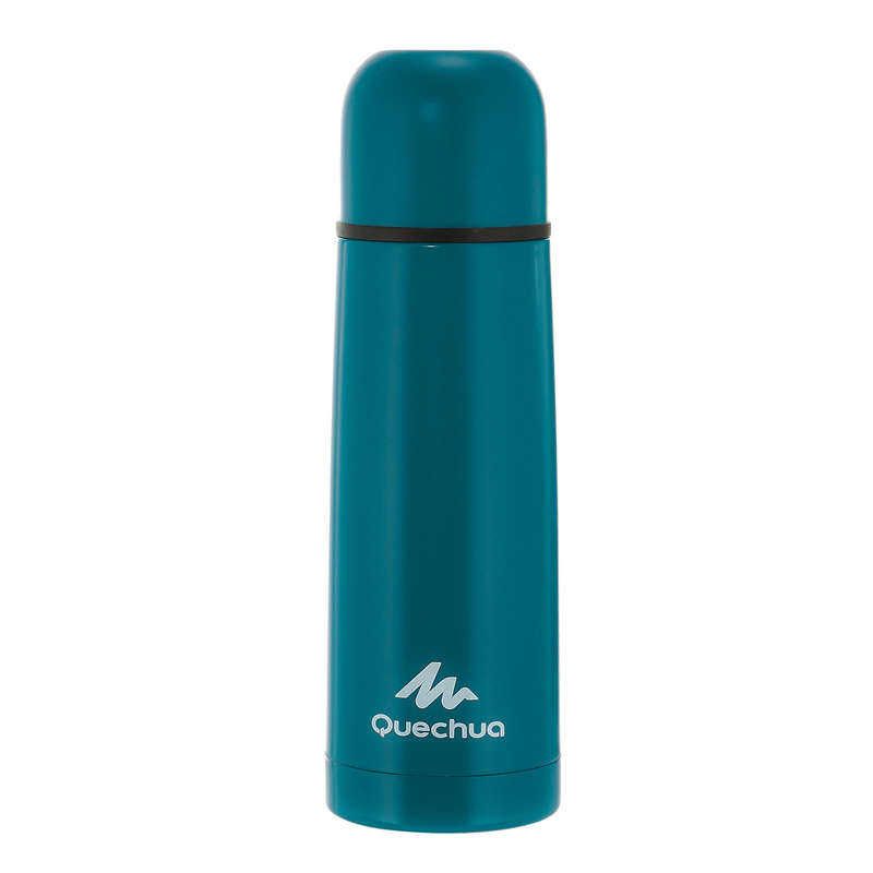 HIKING INSULATED BOTTLES, BOXES Water Bottles - Isothermal Bottle 0.4 L - Blue QUECHUA - Nutrition and Body Care