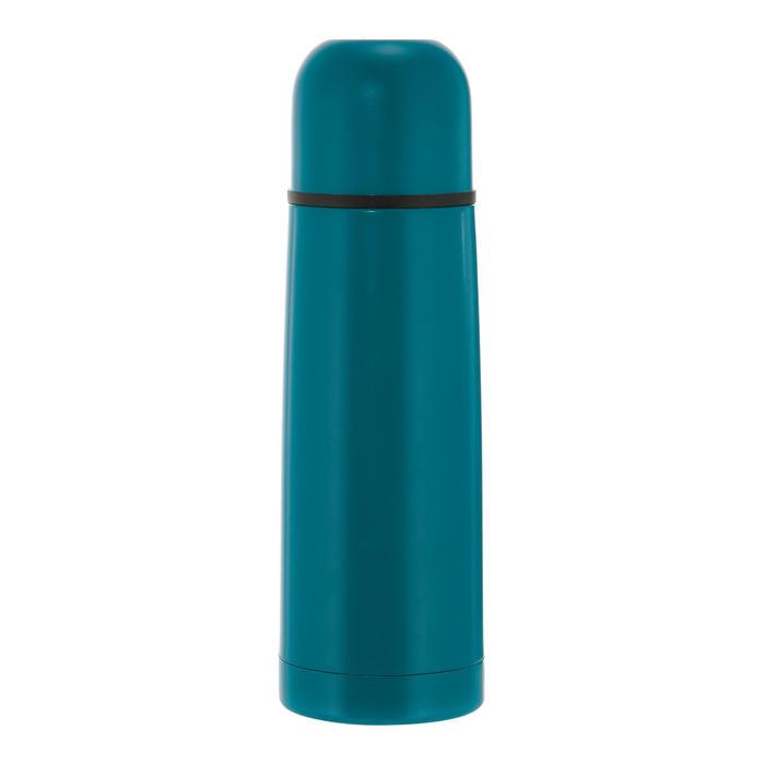 Botella isoterma senderismo acero inoxidable 0,4 L azul