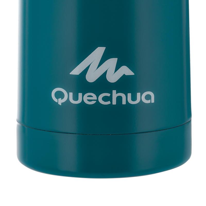 Botella isoterma de senderismo de acero inoxidable 0,4 L azul