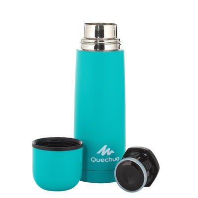 Insulated stainless steel hiking bottle 0.4 litre - Green