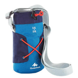 Housse isotherme pour gourde randonnée 0,5 à 0,6 litre bleue