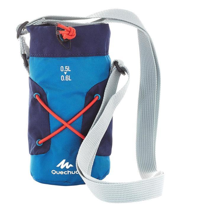 Funda isoterma para cantimplora senderismo 0,5 a 0,6 litro azul