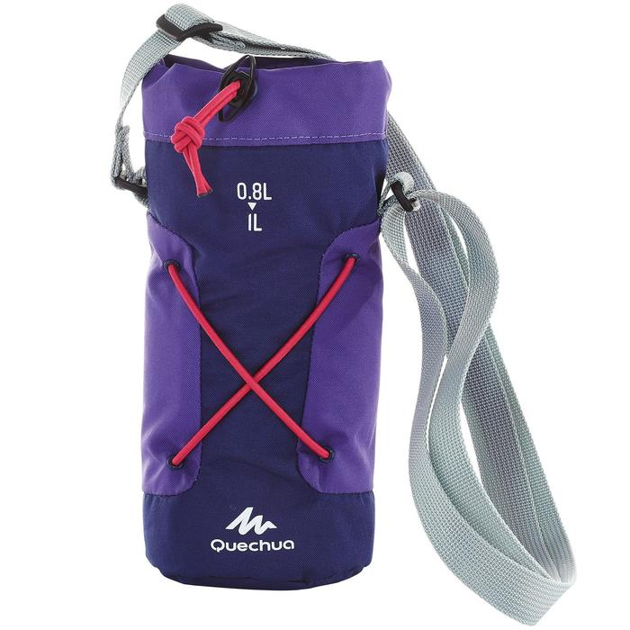 Housse isotherme pour gourde randonnée 0,75 à 1 litre violet