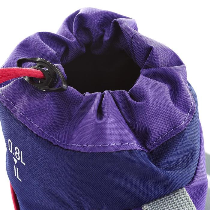 Funda isoterma para cantimplora de senderismo 0,75 a 1 L Violeta