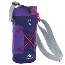 Funda isoterma para cantimplora senderismo 0,75 a 1 litro violeta