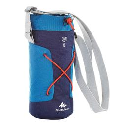 Funda isoterma para cantimplora senderismo 0,75 a 1 litro azul