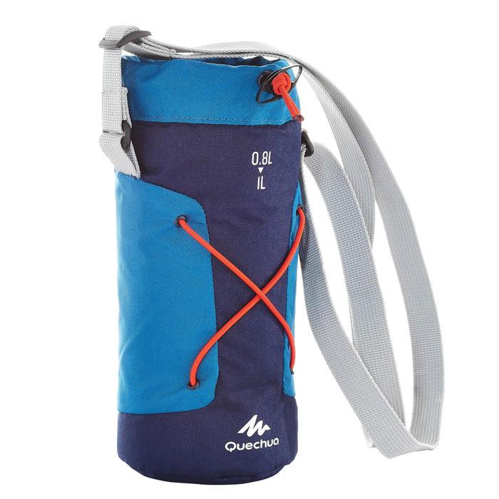 Housse isotherme pour gourde randonnée 0,75 à 1 litre bleu