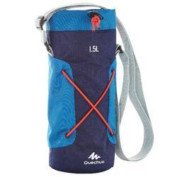 Housse isotherme pour gourde randonnée 1,2 à 1,5 litre bleu