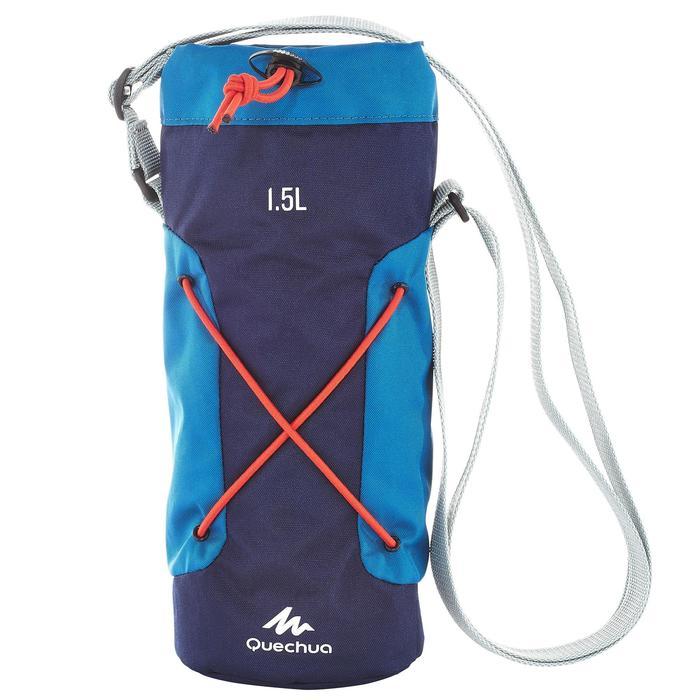 Housse isotherme pour gourde randonnée 1,2 à 1,5 litre bleu - 709701