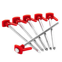 Tent Pegs for Hard Ground x6