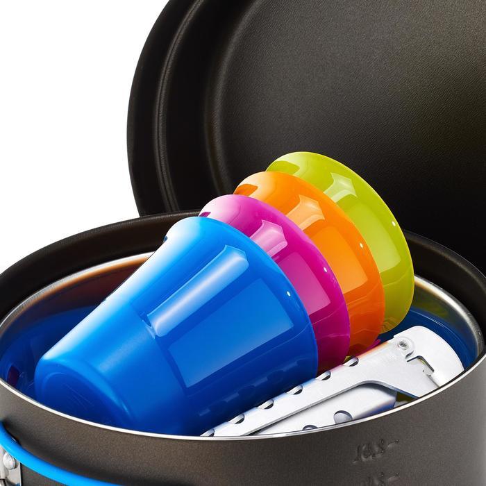Kookset voor trekkers aluminium 4 personen (2,5 liter) met antikleeflag