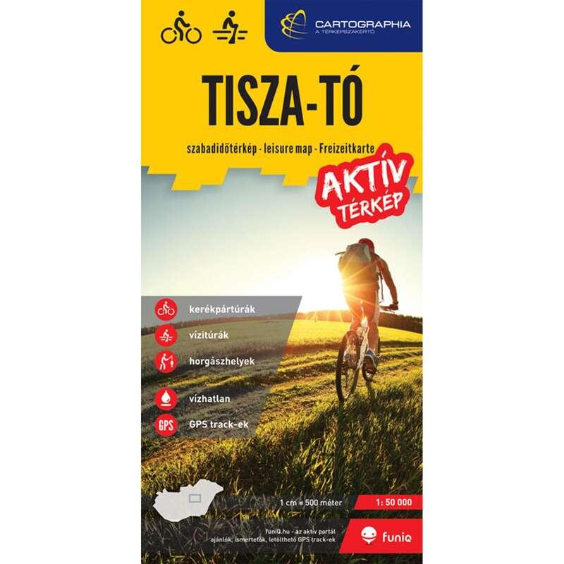 térképek Túrázás - Tisza-tó aktív térkép CARTOGRAPHIA - Túra felszerelés
