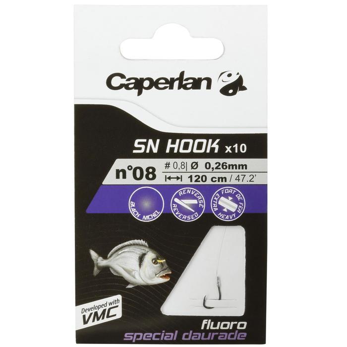 Hameçons montés pêche SN HOOK fluoro daurade
