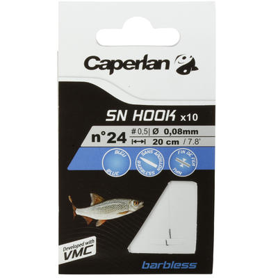 SN Hook Barbless Fishing Rigged Hooks