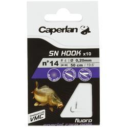 Hameçons montés pêche SN HOOK fluoro carp pole