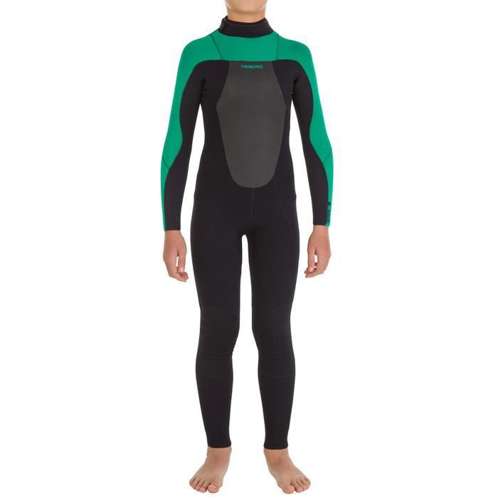 Combinaison Surf 500 Néoprène 4/3 mm Enfant verte - 7105