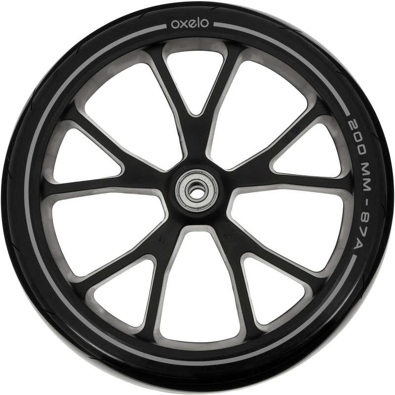 ЗАП. ЧАСТИ ДЛЯ САМОКАТА Мастерская - Черное колесо 200 мм OXELO - Семьи и категории