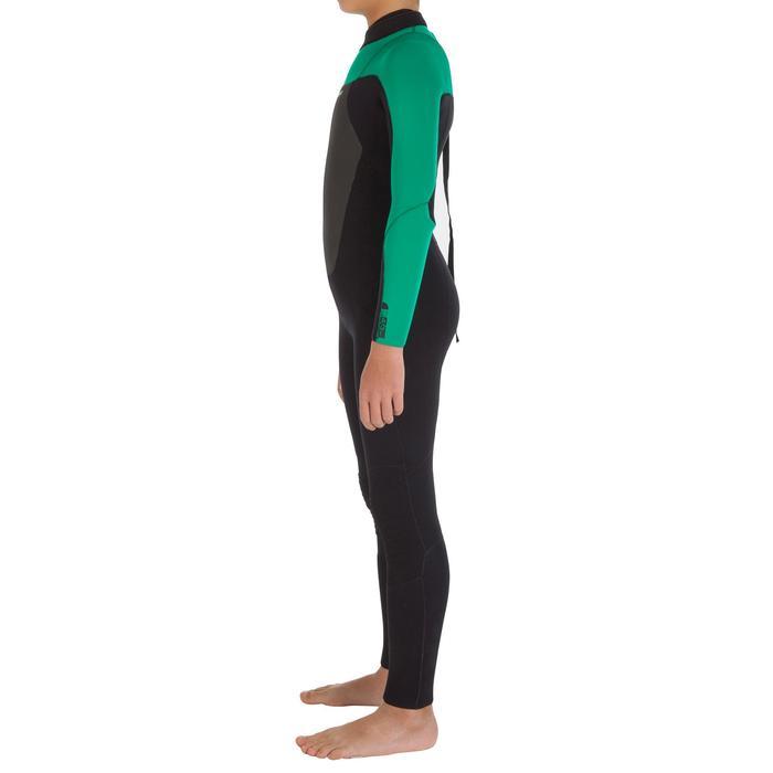 Combinaison Surf 500 Néoprène 4/3 mm Enfant verte - 7108