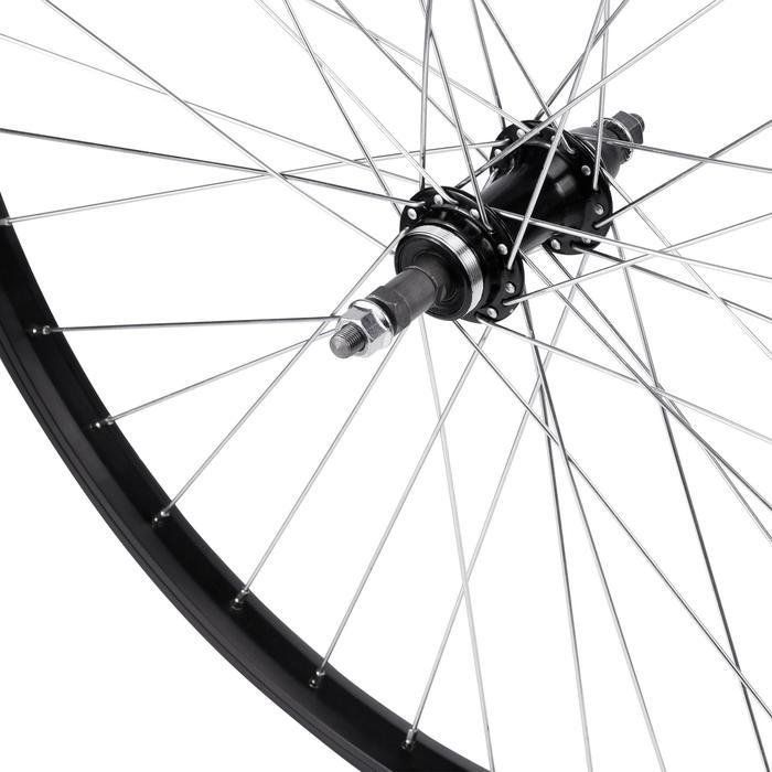 MTB achterwiel 26 inch enkelwandig V-brake voor freewheel zwart
