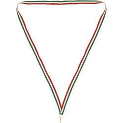 Medaillelint groen/wit/rood
