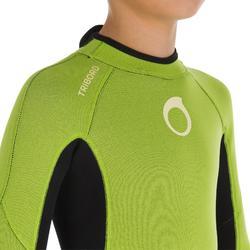 Wetsuit kind 100 neopreen 2/2 mm groen