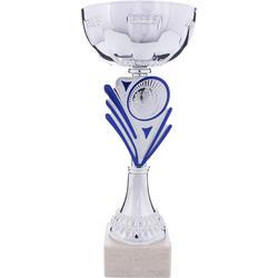 Beker C160 zilver/blauw