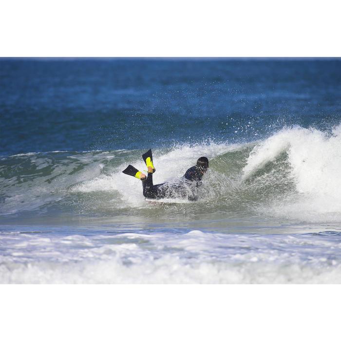 Bodyboard vinnen 500 zwart geel met leash