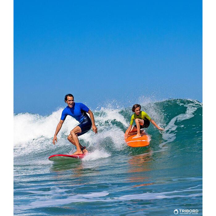 Heren shorty 100 voor surfen neopreen blauw