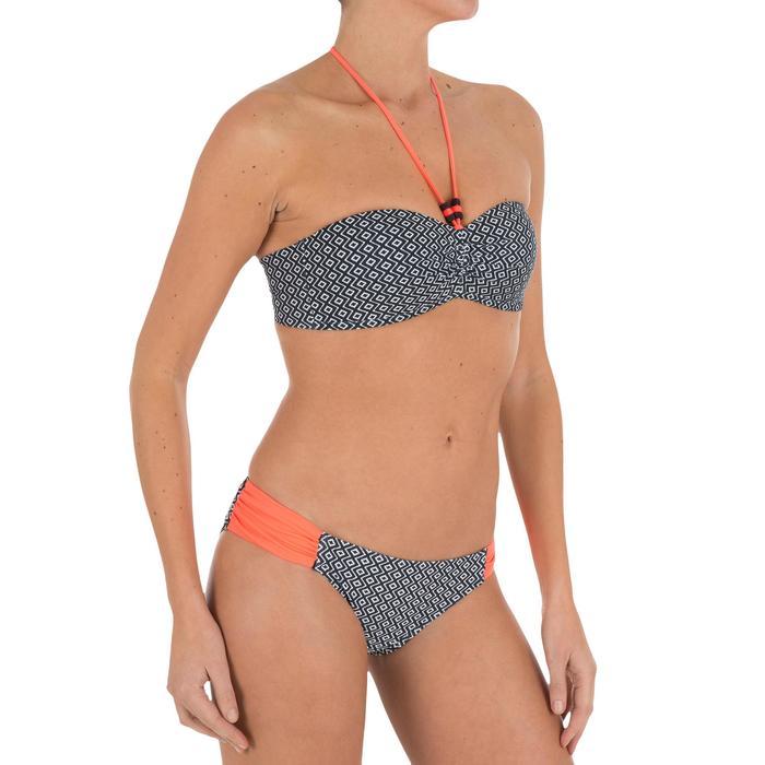 Bas de maillot de bain femme culotte NIKI COLORB avec fronces côté - 711001