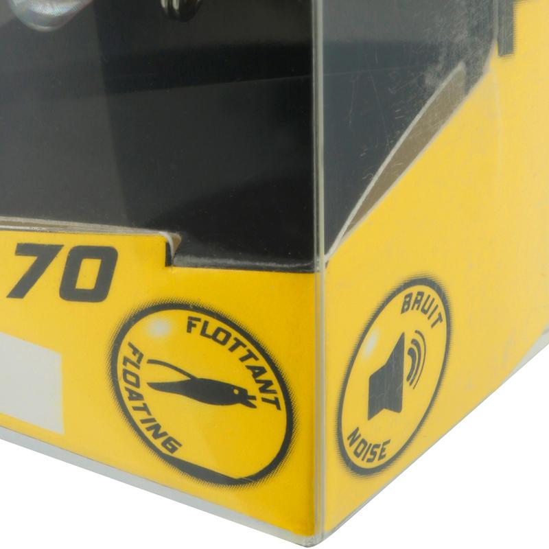 เหยื่อปลั๊กแบบลอยในทะเลรุ่น Towy 70 (สีเหลืองสด)