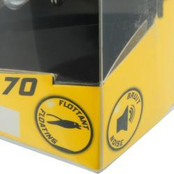 Wobbler Towy 70 Popper gelb funkelnd