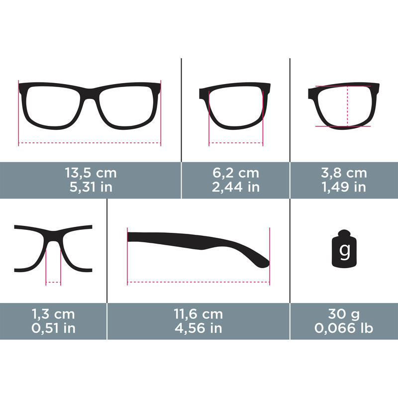 Sunglasses MH530 Cat 3 - Black/Red