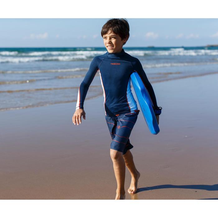 "100 Kids' Technical 1st Price Bodyboard 6-12 years 35"" + Leash - Blue"